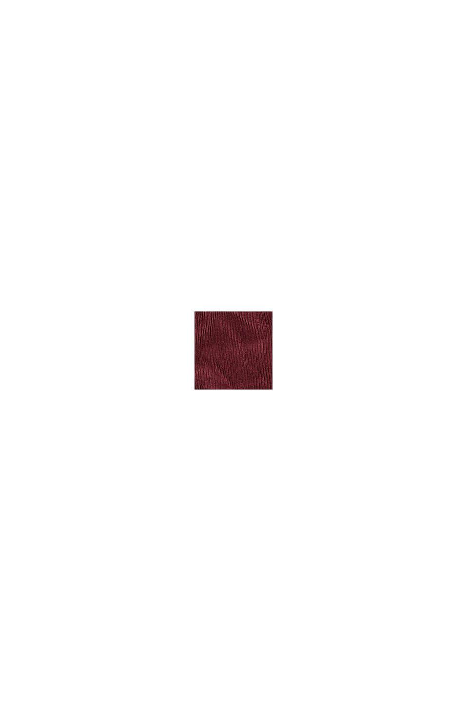 Cord-Rock mit elastischem Paperbag-Bund, BORDEAUX RED, swatch