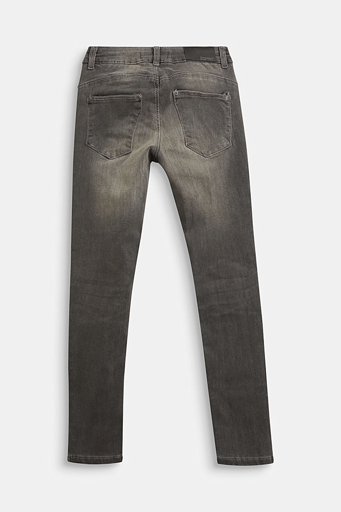 Stretch jeans with decorative studs, GREY DARK WASHED, detail image number 1