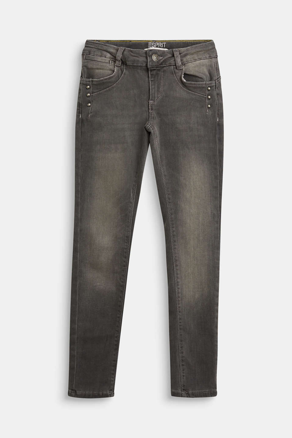 Esprit - Stretch jeans with decorative studs