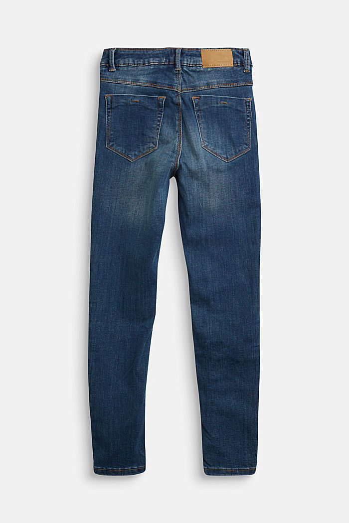 Stretch jeans with patch pockets, BLUE MEDIUM WASHED, detail image number 1