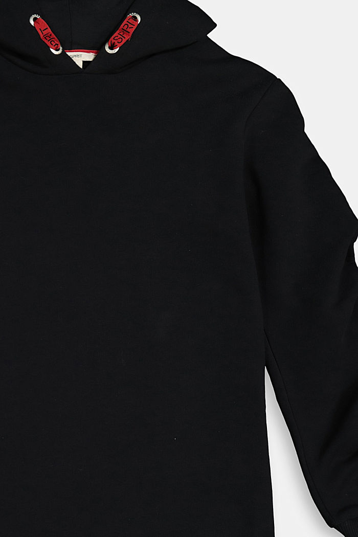 Sweatshirt dress in 100% cotton, BLACK, detail image number 2