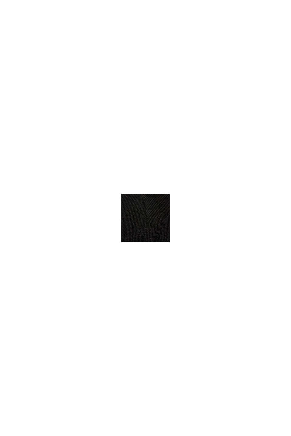 Strickmütze mit Struktur, BLACK, swatch