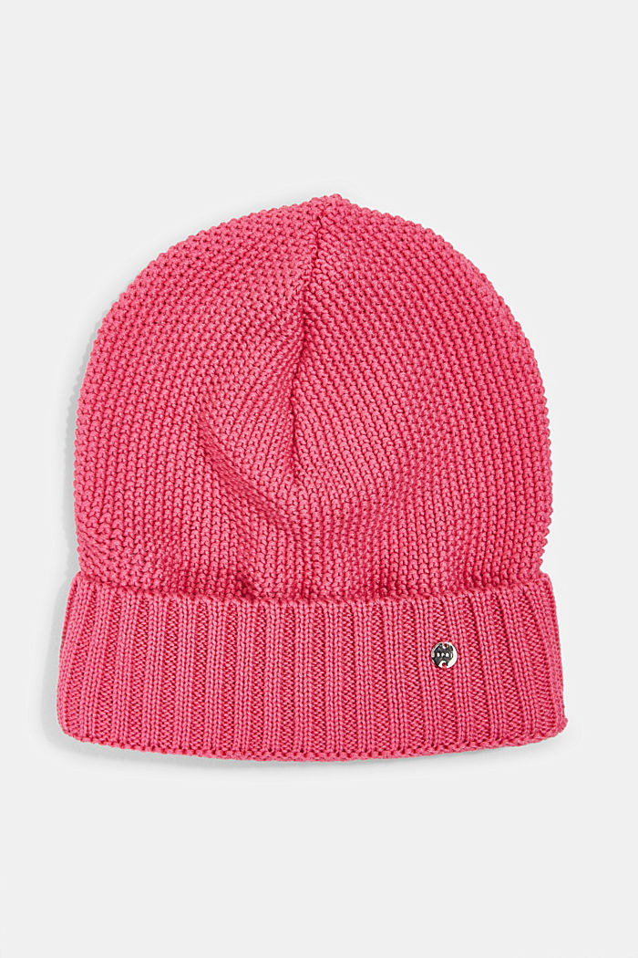 Textured knitted hat, PINK, detail image number 0