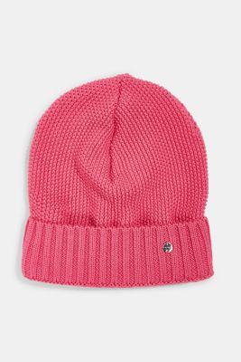 Textured knitted hat, PINK, detail