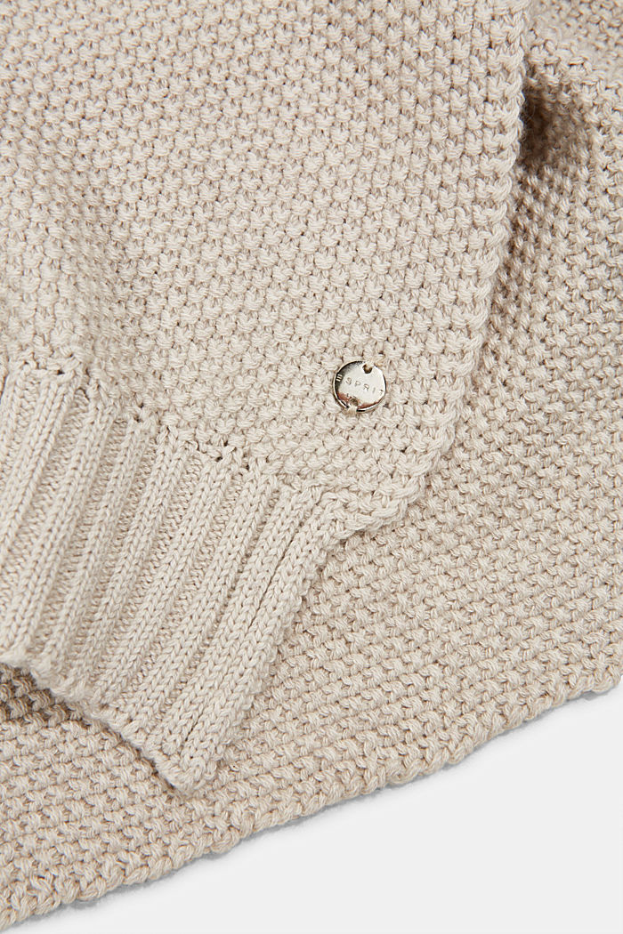 Knitted scarf with textured finish, SAND, detail image number 1