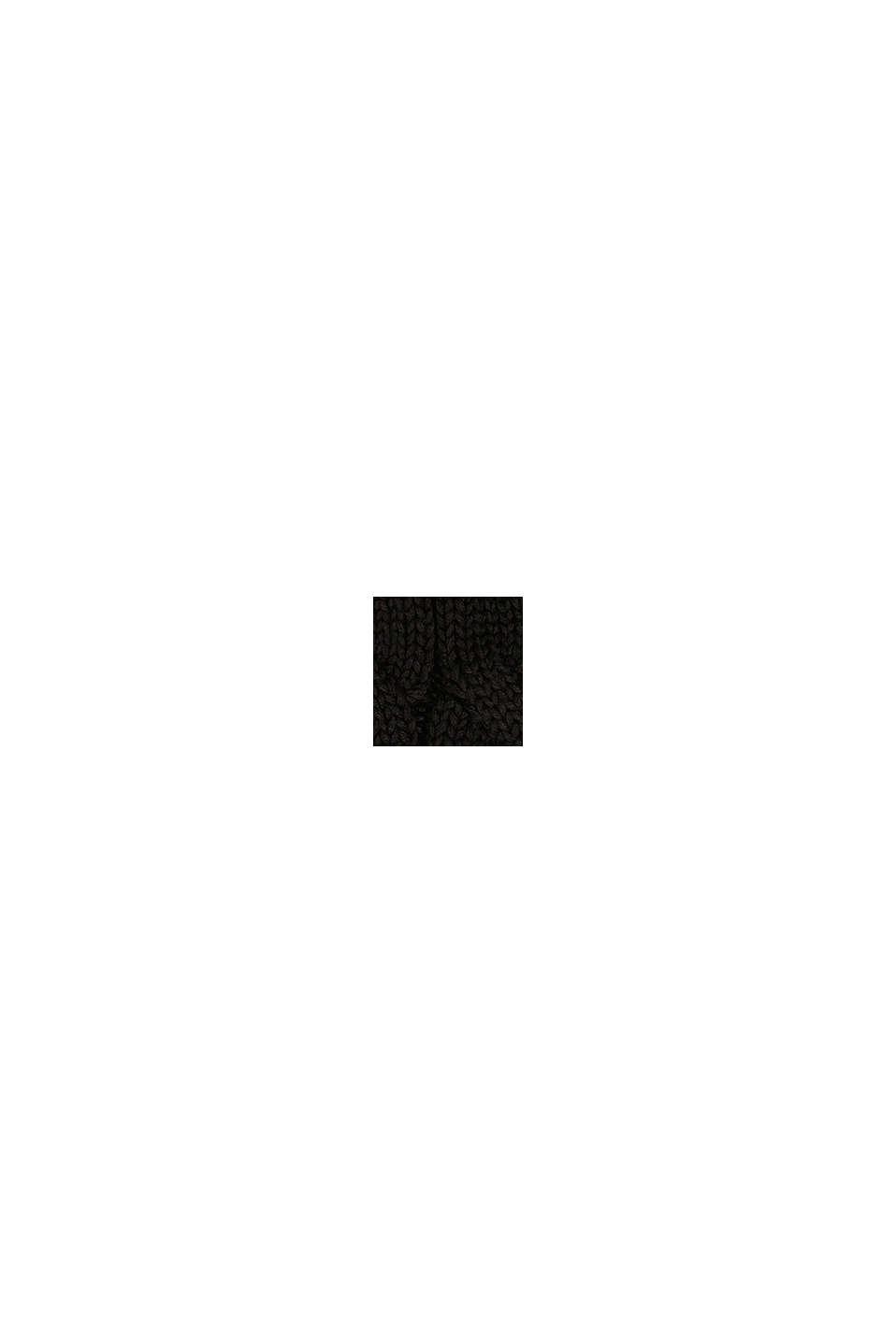 Muts met pompon van imitatiebont, BLACK, swatch
