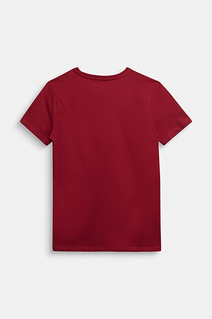 Jersey T-shirt in 100% cotton, DARK RED, detail image number 1