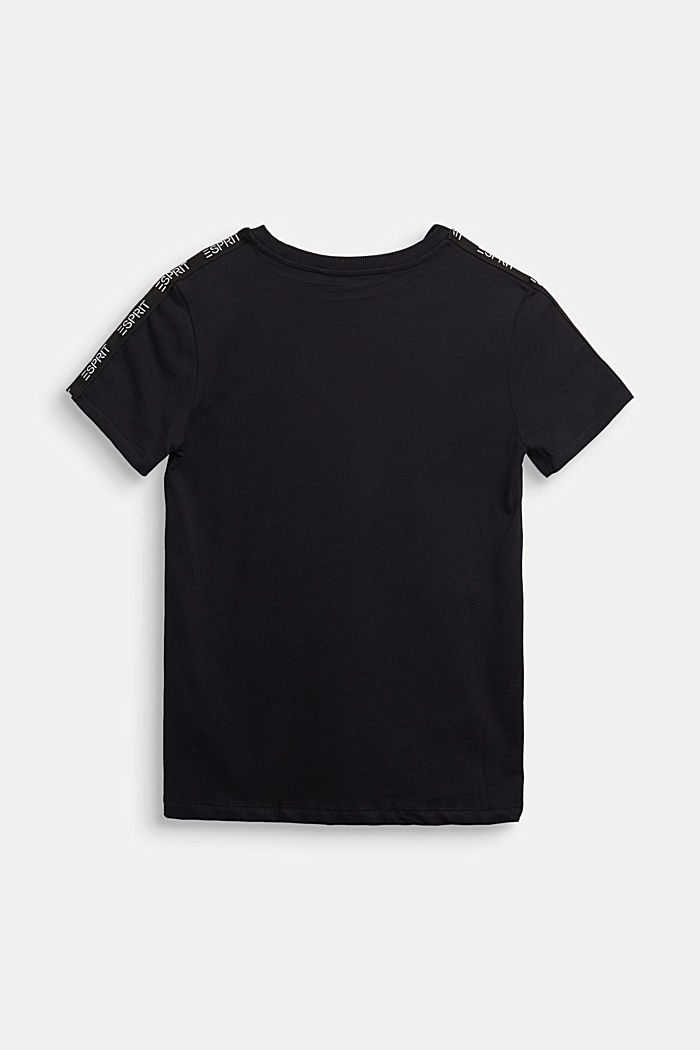 Jersey-T-Shirt aus 100% Baumwolle, BLACK, detail image number 1