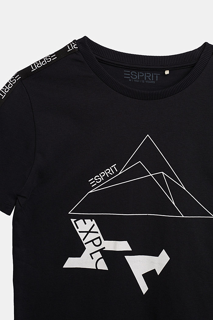 Jersey T-shirt in 100% cotton, BLACK, detail image number 2