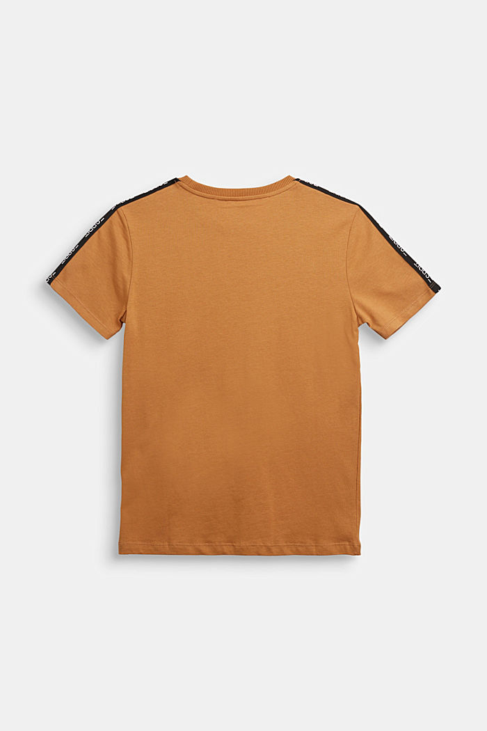 Jersey T-shirt in 100% cotton, CAMEL, detail image number 1