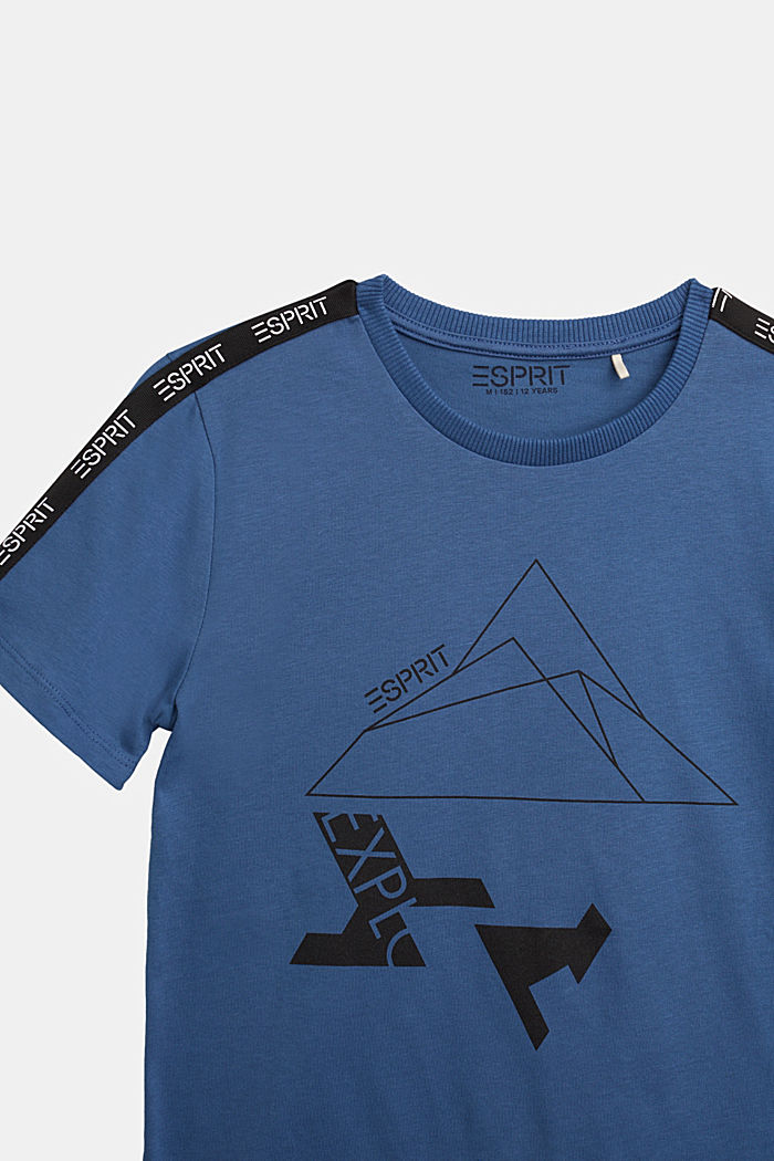 Jersey T-shirt in 100% cotton, BLUE, detail image number 2