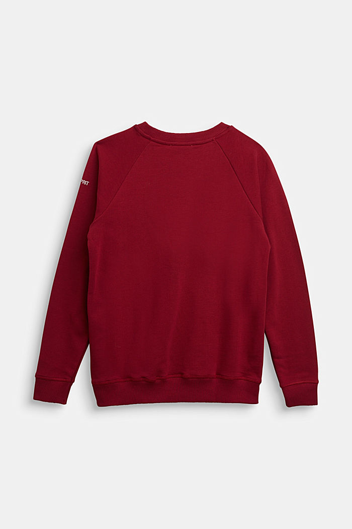 Sweatshirt aus 100% Baumwolle, DARK RED, detail image number 1