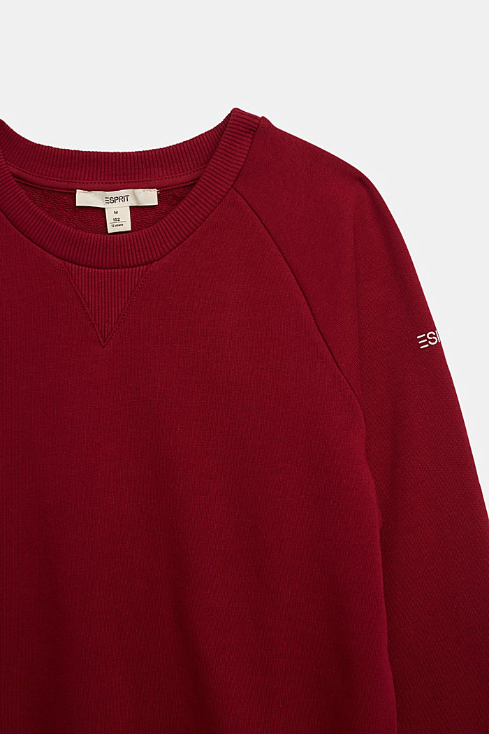 Sweatshirt aus 100% Baumwolle, DARK RED, detail image number 2