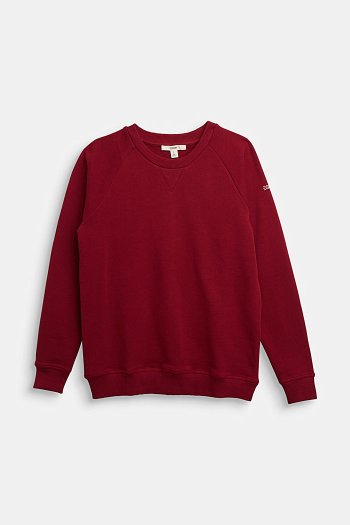 Sweatshirt aus 100% Baumwolle, DARK RED, detail image number 0