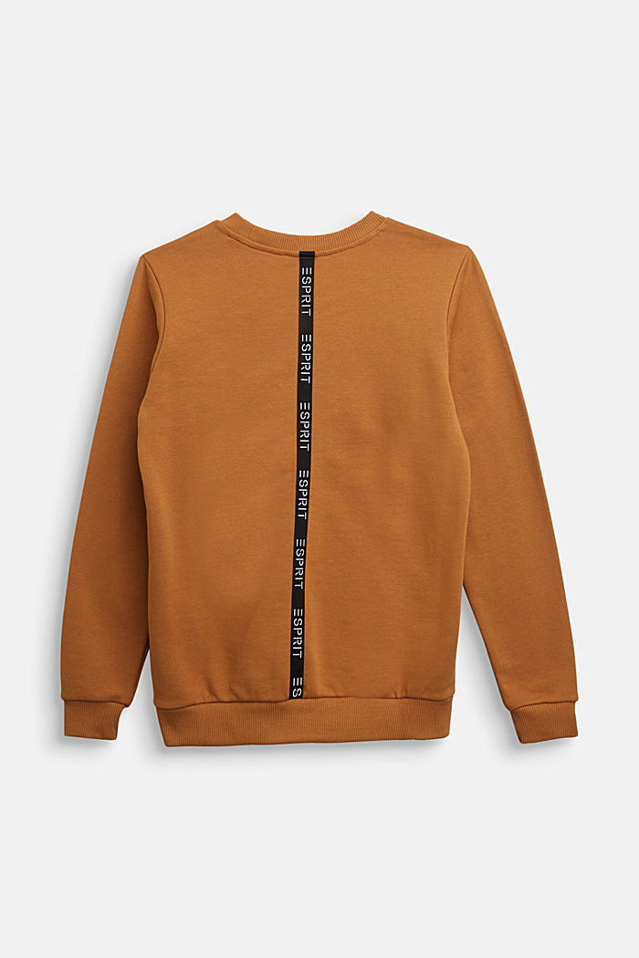 Sweatshirt in 100% cotton, CAMEL, detail image number 1