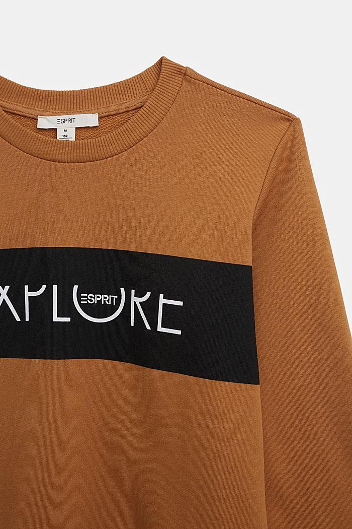 Sweatshirt van 100% katoen, CAMEL, detail image number 2