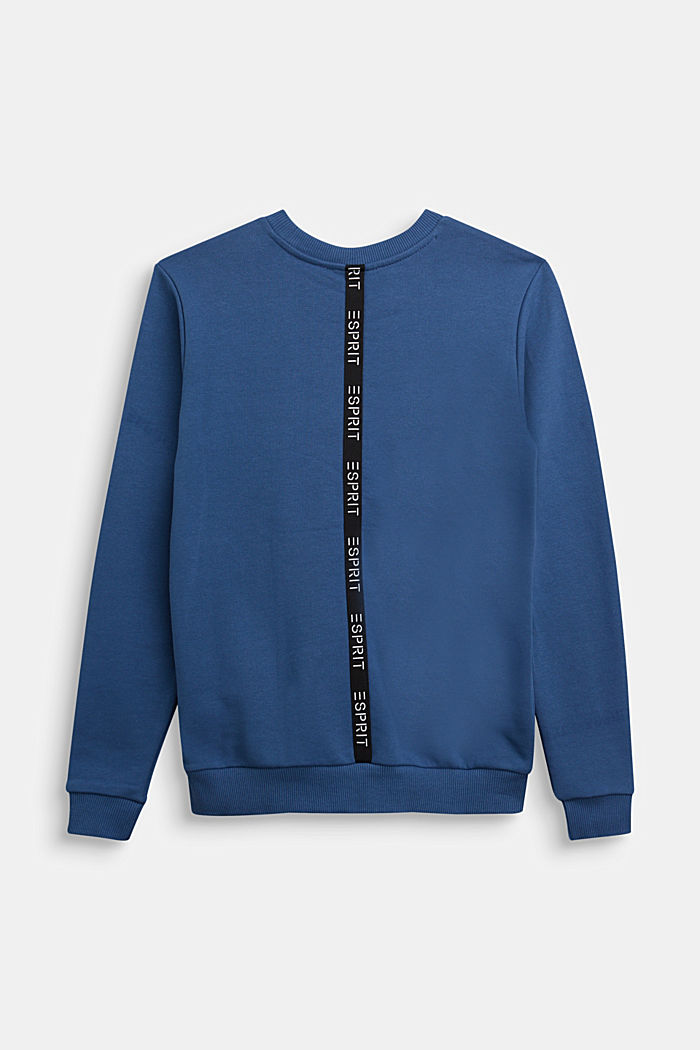 Sweatshirt in 100% cotton, BLUE, detail image number 1