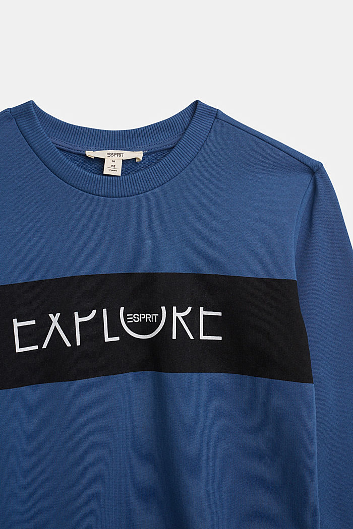 Sweatshirt in 100% cotton, BLUE, detail image number 2