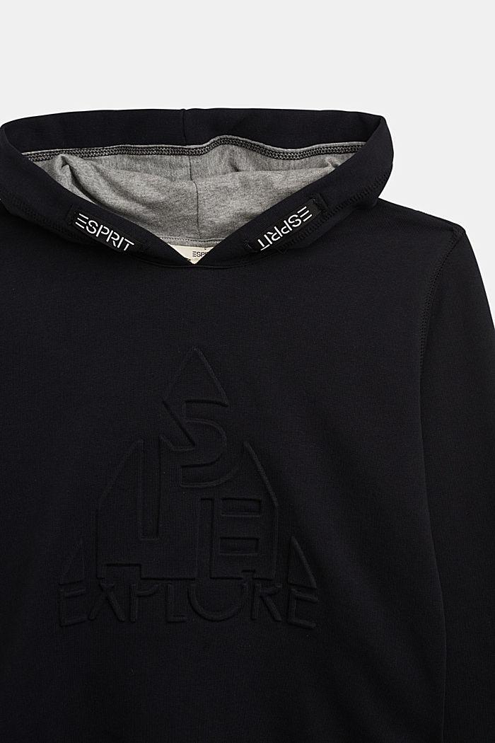 Hoodie aus 100% Baumwolle, BLACK, detail image number 2