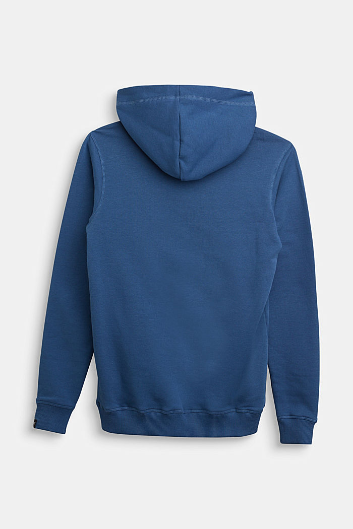 Hoodie in 100% cotton, BLUE, detail image number 1