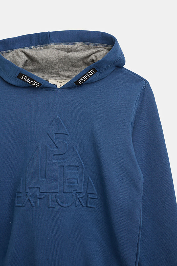 Hoodie in 100% cotton, BLUE, detail image number 2