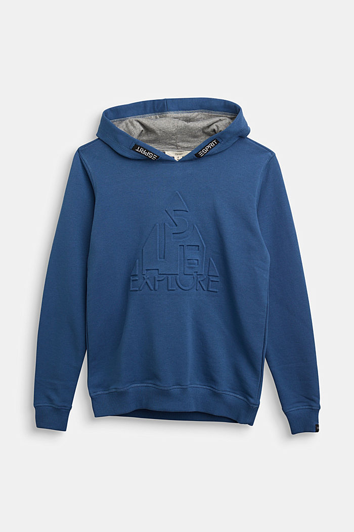 Hoodie in 100% cotton, BLUE, detail image number 0