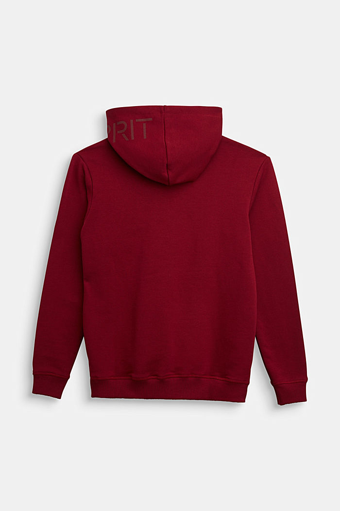 Sweatshirts cardigan, DARK RED, detail image number 1