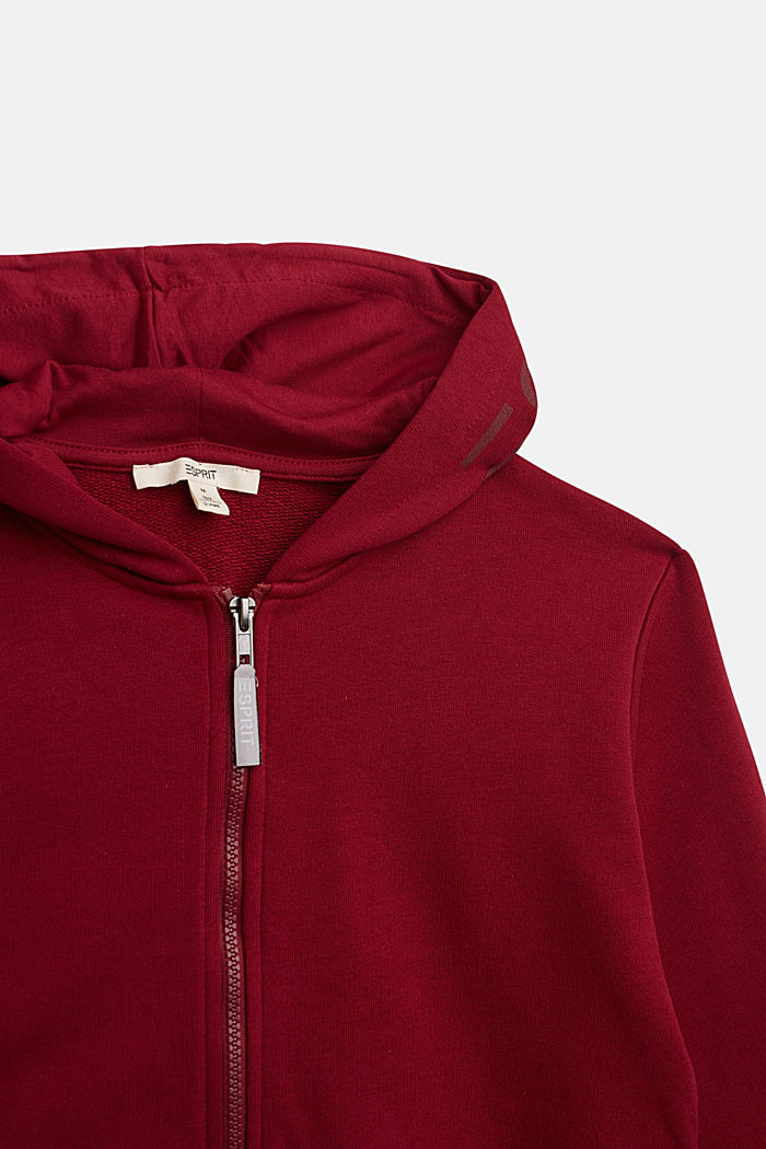 Sweatshirts cardigan, DARK RED, detail image number 2