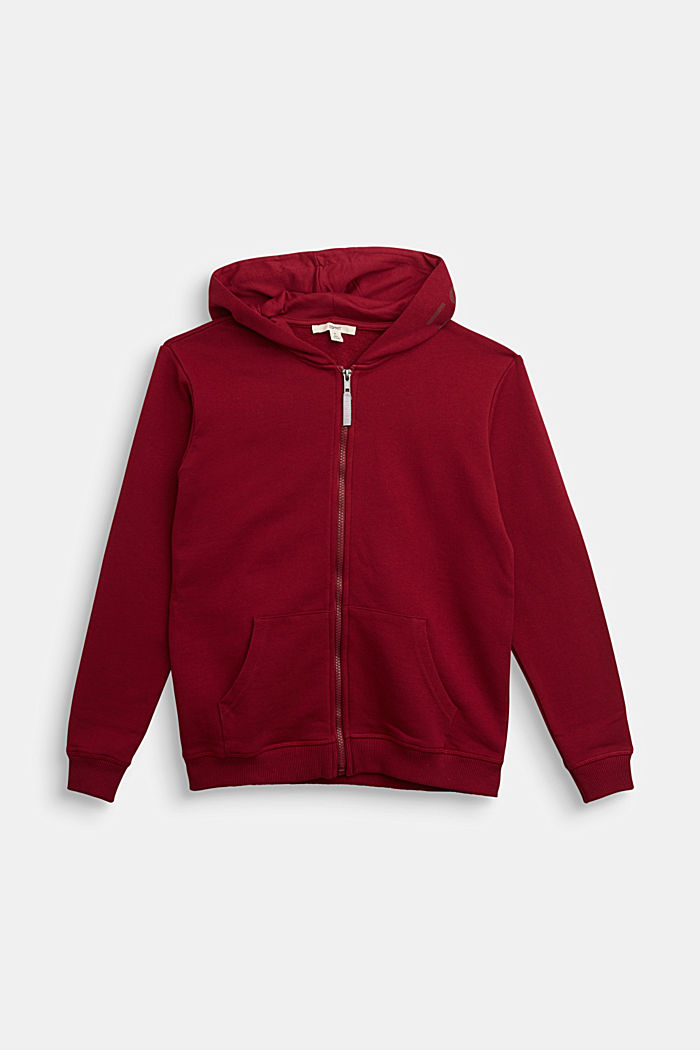 Sweatshirts cardigan, DARK RED, detail image number 0