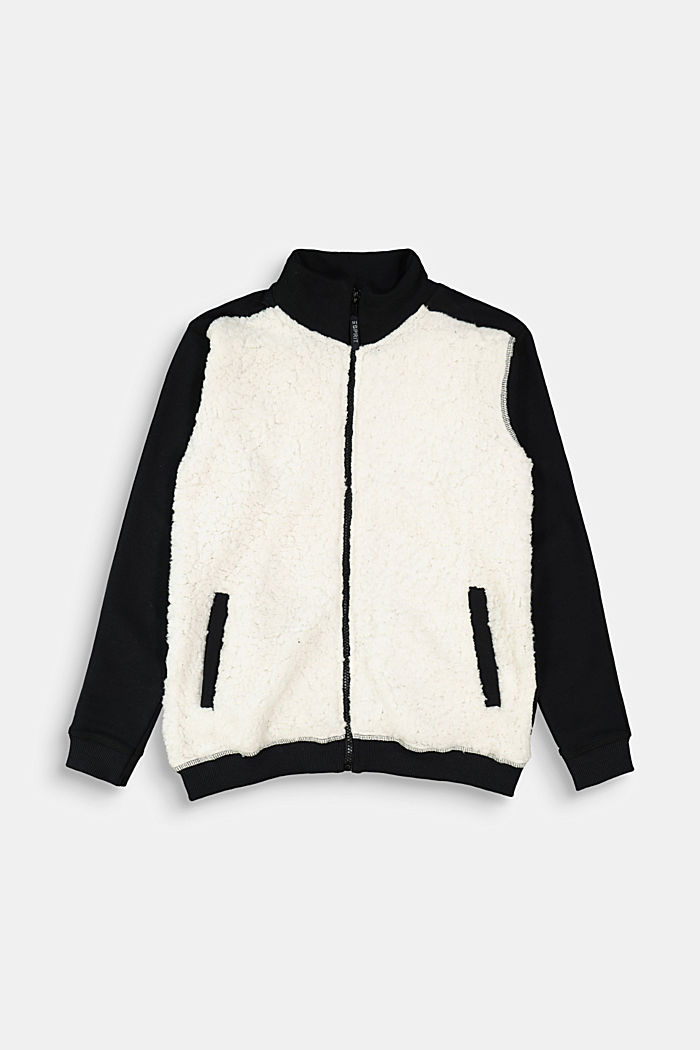 Sweatshirt jacket made of 100% cotton