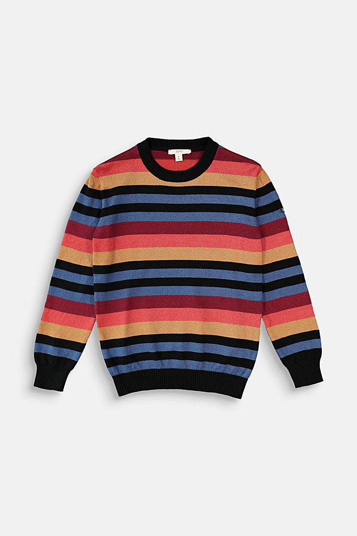 Colourful striped jumper made of 100% cotton