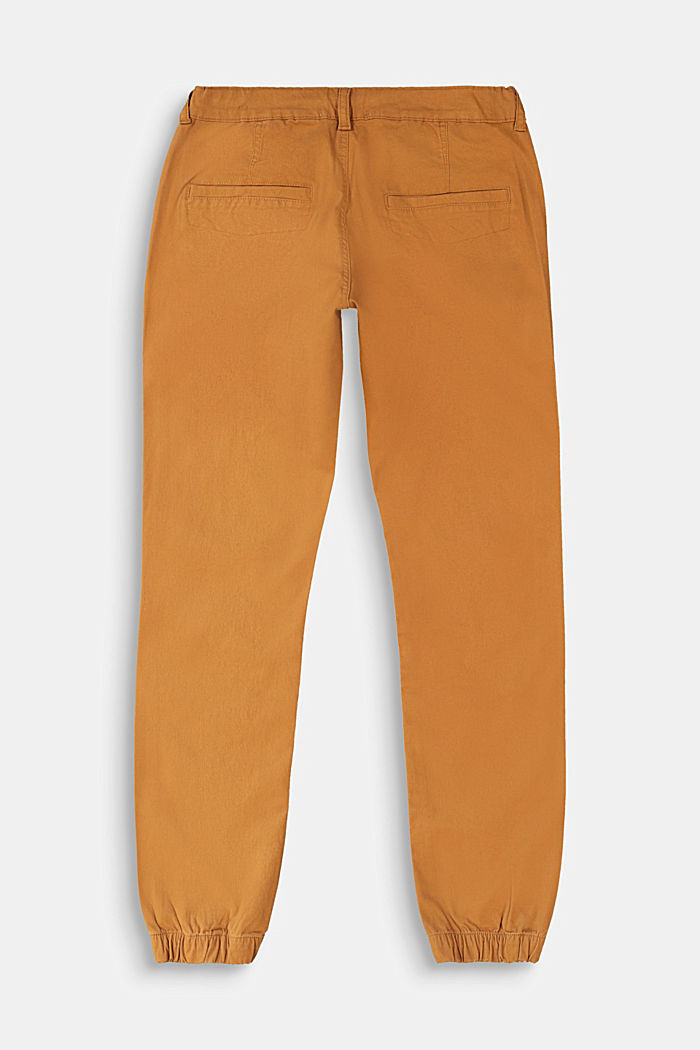 Chinos with elasticated cuffs, CAMEL, detail image number 1