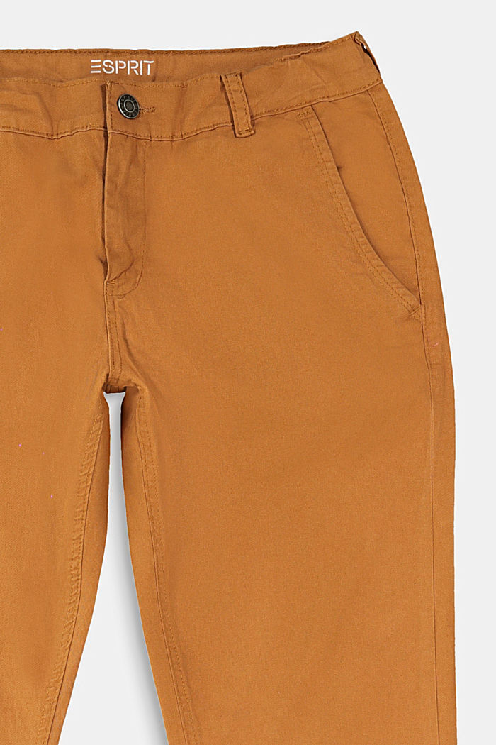 Chinos with elasticated cuffs, CAMEL, detail image number 2