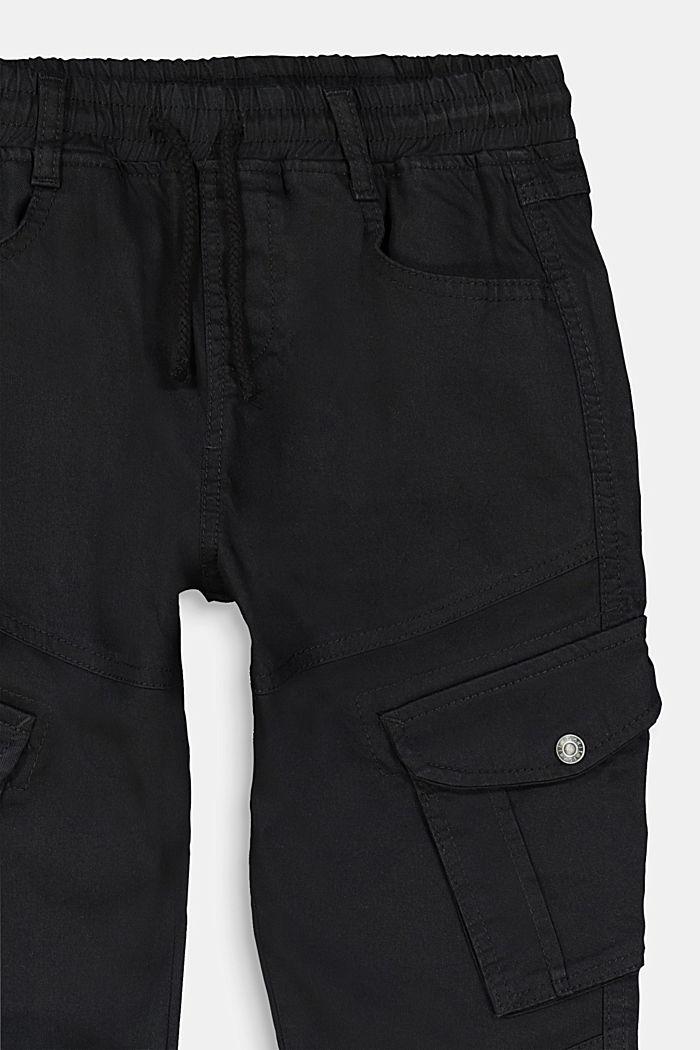 Cargo-Hose aus Baumwoll-Stretch, BLACK, detail image number 2