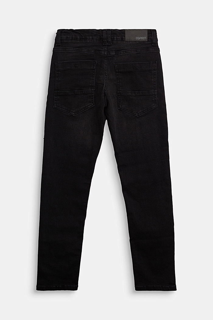Stretch jeans with an adjustable waist, BLACK DARK WASHED, detail image number 1