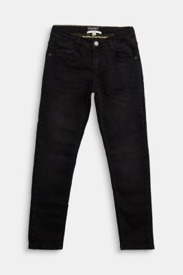 Stretch jeans with an adjustable waist, BLACK DARK WASHED, detail