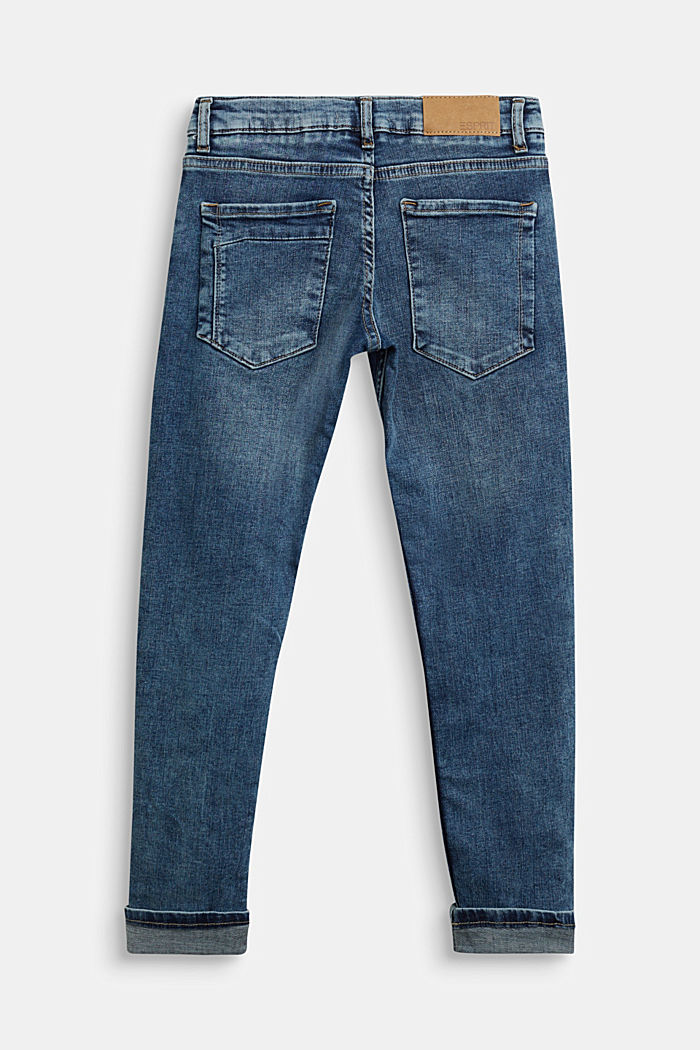 Stretch jeans with an adjustable waist, BLUE MEDIUM WASHED, detail image number 1