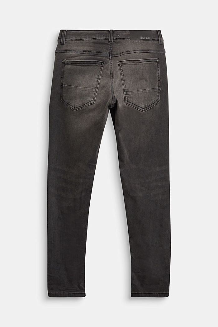 Stretch jeans with an adjustable waist, GREY DARK WASHED, detail image number 1