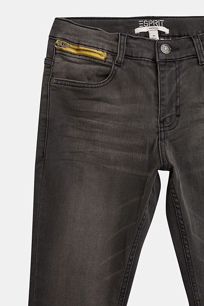 Stretch jeans with an adjustable waist, GREY DARK WASHED, detail image number 2