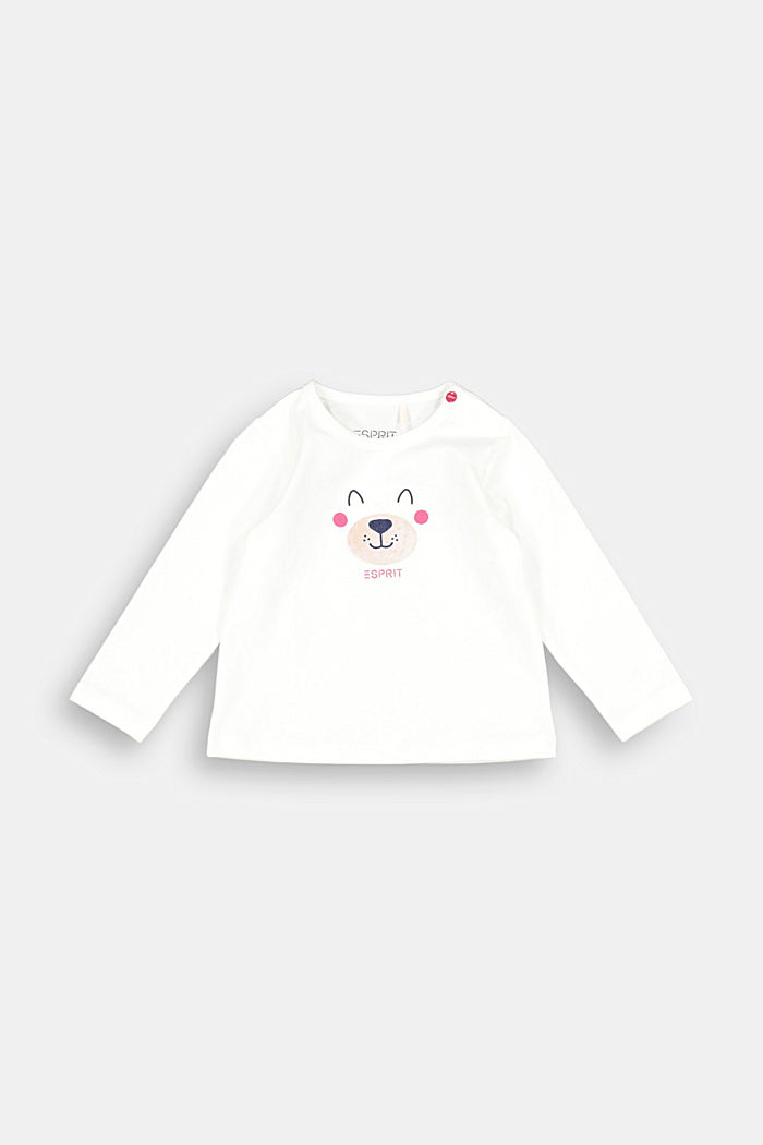 Long sleeve top with bear print