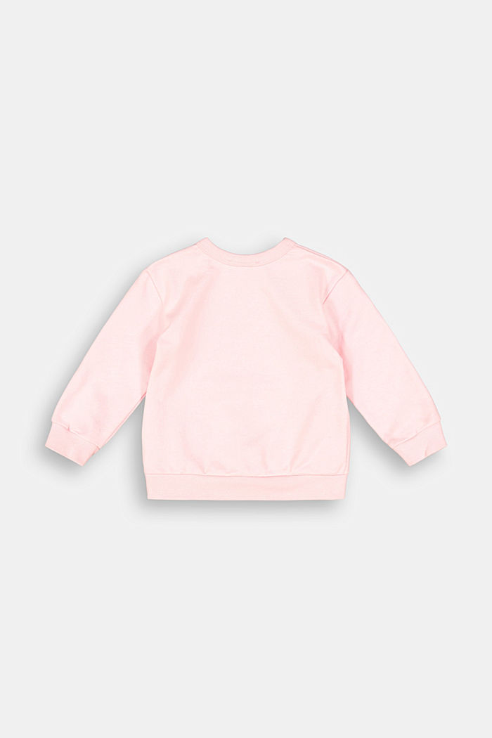 Sweatshirt made of 100% organic cotton, PINK FUCHSIA, detail image number 1