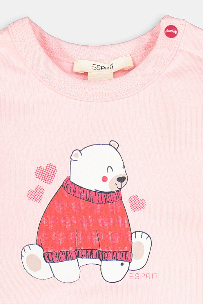 Sweatshirt made of 100% organic cotton, PINK FUCHSIA, detail image number 2