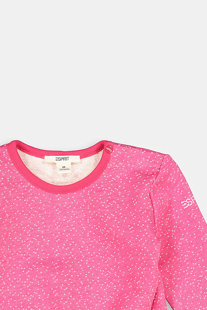 Sweatshirt with an elasticated detail and organic cotton, DARK PINK, detail image number 2