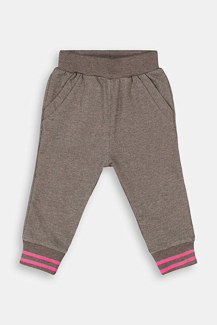 Melange tracksuit bottoms made of 100% organic cotton