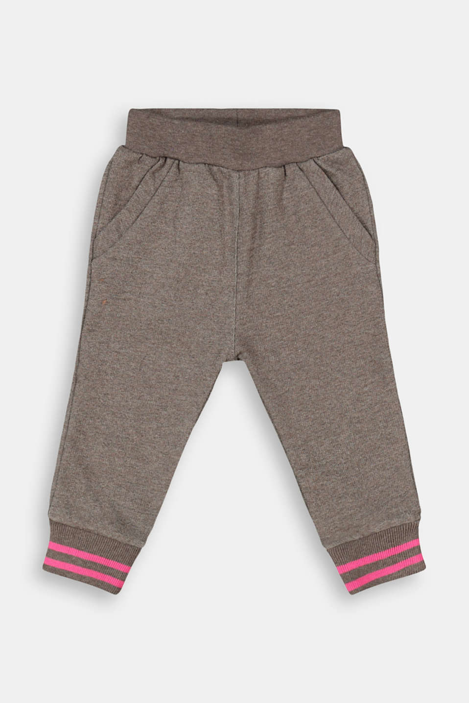 Esprit - Melange tracksuit bottoms made of 100% organic cotton