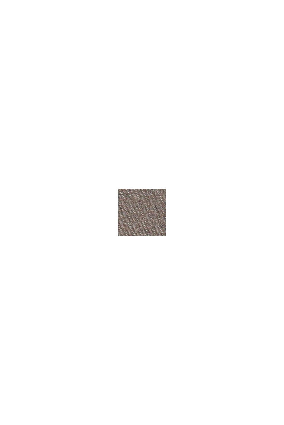 Melerede sweatbukser af 100% økologisk bomuld, BARK, swatch