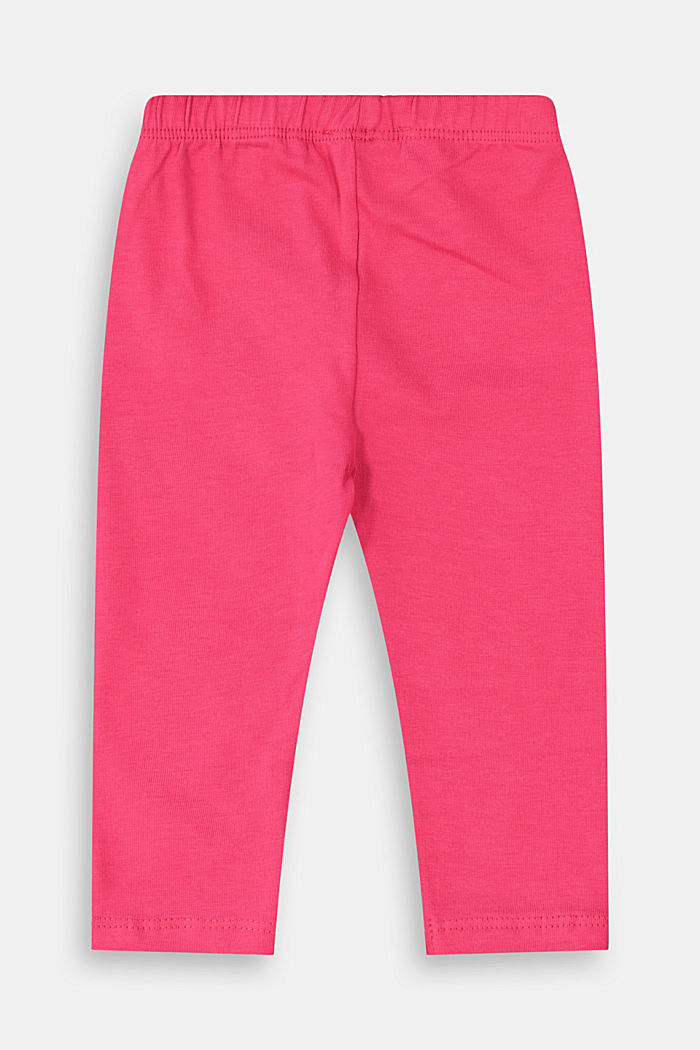 Stretch cotton leggings, DARK PINK, detail image number 1