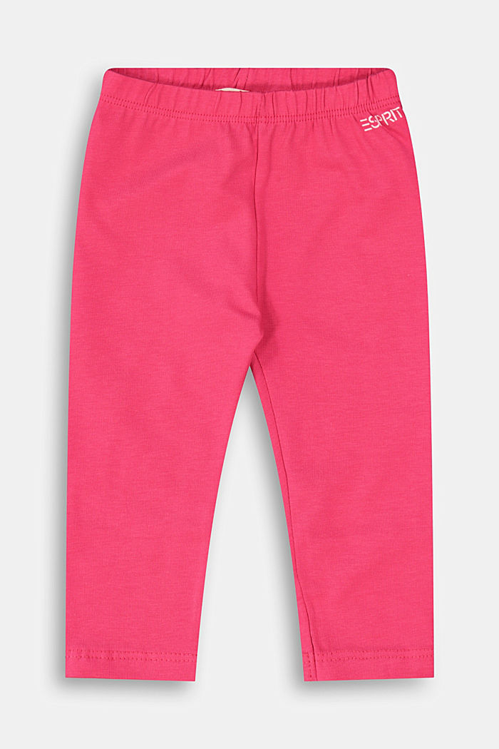 Stretch cotton leggings, DARK PINK, detail image number 0