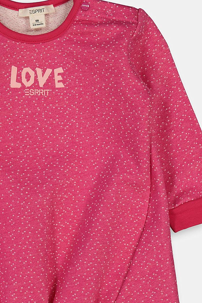 Sweat-Kleid mit Print, DARK PINK, detail image number 2