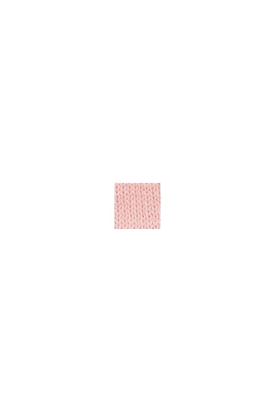 Strick-Fäustlinge mit Streifen, PINK FUCHSIA, swatch